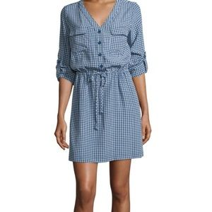Max Studio shirtdress geometric-dot
